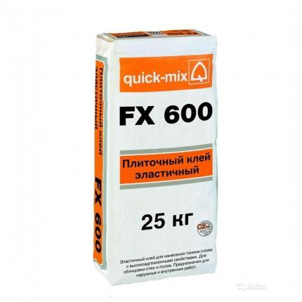 Quick Mix серия FX 600 - Плиточный клей, эластичный (С2 ТЕ), Цвет:  Серый, Арт. 72340