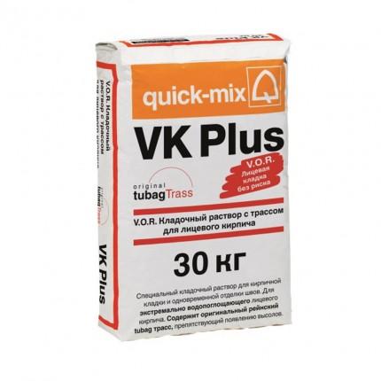 Quick Mix серия VK Plus - Кладочный раствор с трассом для лицевого кирпича, Цвет: Тёмно-коричневый , Арт. 72106